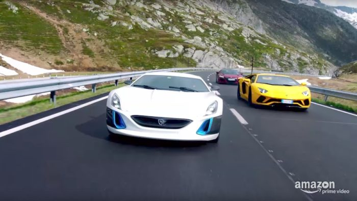 The Grand Tour: Aventador, NSX, and Rimac Drag Race - YouTube