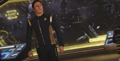 """Despite Yourself"" -- Episode 110 -- Pictured: Jason Isaacs as Captain Gabriel Lorca of the CBS All Access series STAR TREK: DISCOVERY. Photo Cr: Best Possible Screengrab/CBS © 2017 CBS Interactive. All Rights Reserved."