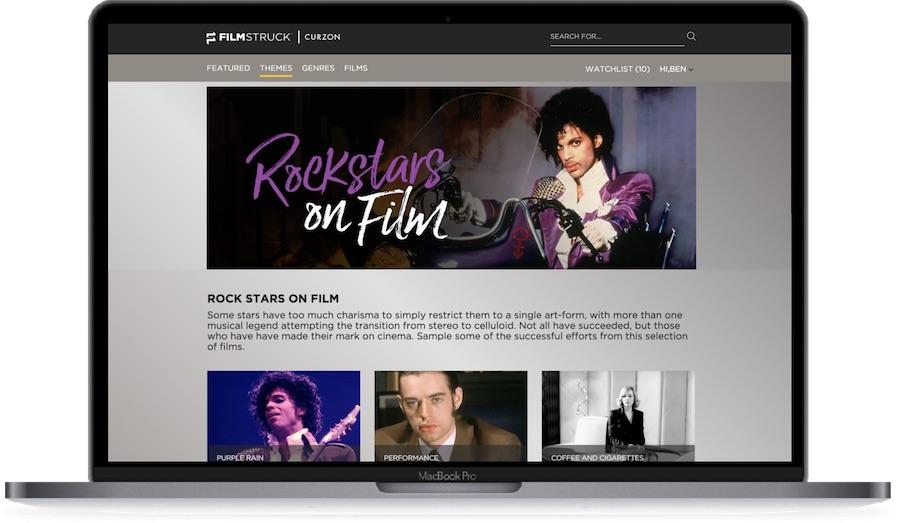 FilmStruck laptop