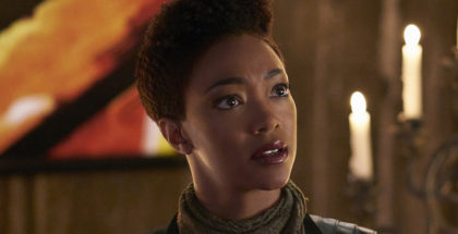 """""""Will You Take My Hand?"""" -- Episode 115 -- Pictured: Sonequa Martin-Green as Michael Burnham of the CBS All Access series STAR TREK: DISCOVERY. Photo Cr: Russ Martin/CBS © 2017 CBS Interactive. All Rights Reserved."""