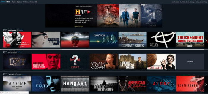 History Play launches on Amazon Prime Video Channels