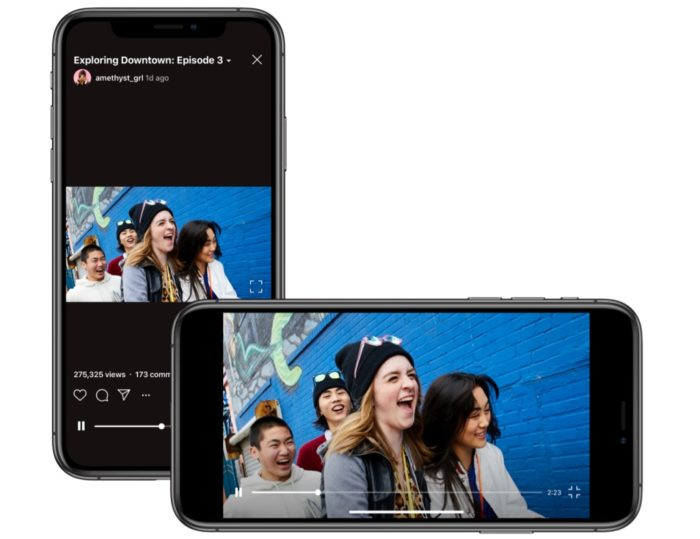 Instagram's IGTV opens up to horizontal videos