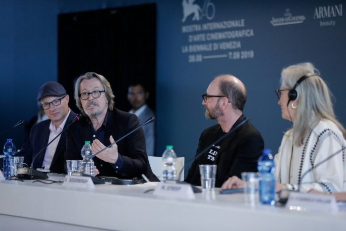 """""""Art can bring about change"""": Cast and crew talk The Laundromat at Venice Film Festival"""