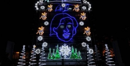 Alan Partridge Christmas lights - Norwich