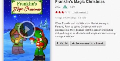 franklin's magical christmas - Netflix film review