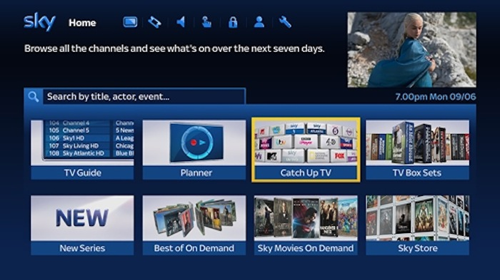 Most Sky TV customers now connected to On Demand