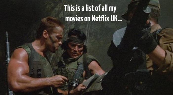 The Arnie Random Netflix Button
