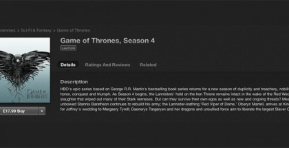 game of thrones itunes UK