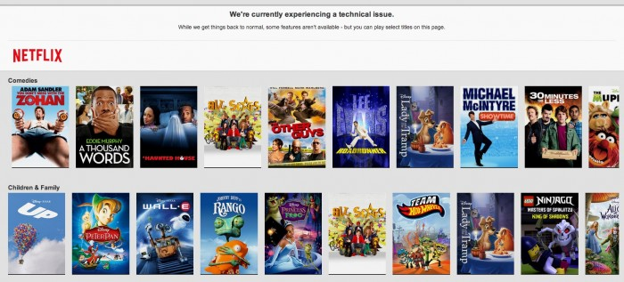 Breaking: Netflix went down last night, forcing people to actually talk to each other