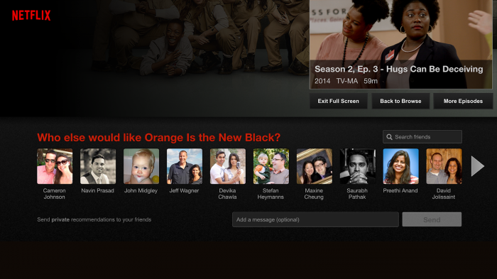 Netflix adds new private recommendations
