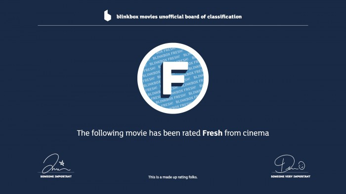 "blinkbox launches new ""Fresh from cinema"" adverts"