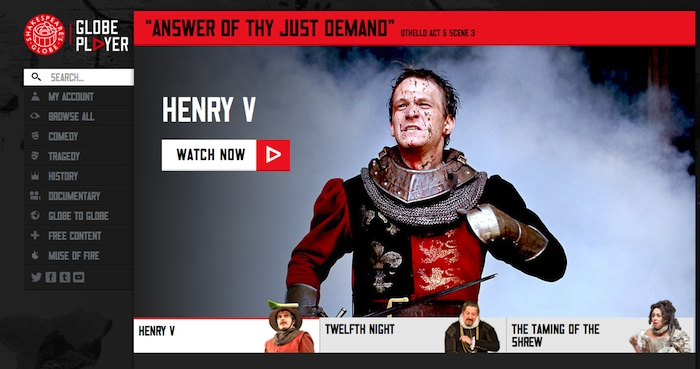All the world's a stream: Shakespeare's Globe launches VOD player