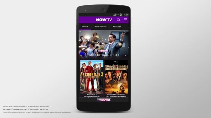 NOW TV now available to Vodafone 4G customers