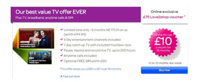 TalkTalk TV offers six months of free Netflix