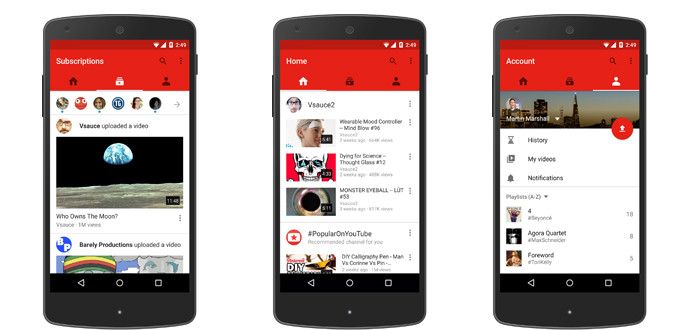 YouTube releases updated mobile app