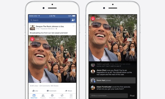 Facebook introduces live video streaming… for VIPs only