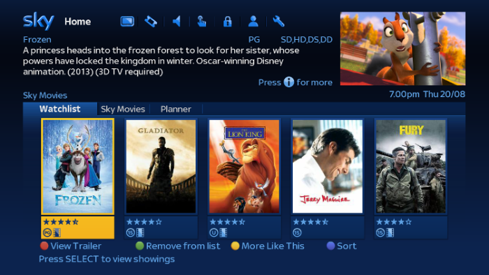 New Sky+ box features keep Sky Movies up with the stream