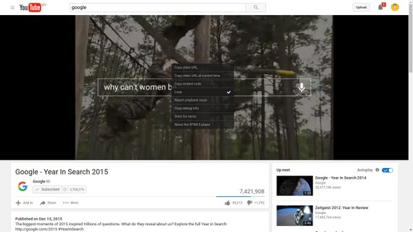 You can now loop any video on YouTube