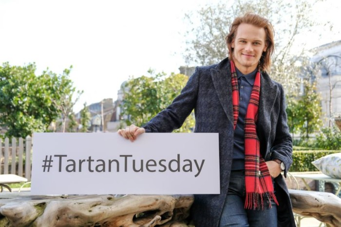 Sam Heughan launches #TartanTuesday as Outlander returns to Amazon Prime Video