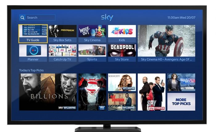 Sky revamps homepage to boost TV streaming