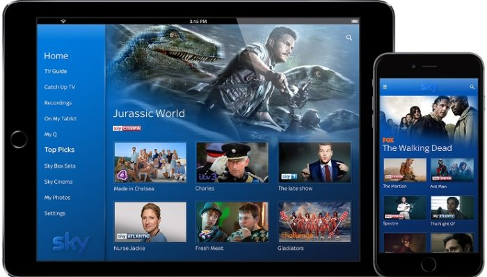 Sky Q launches mobile app