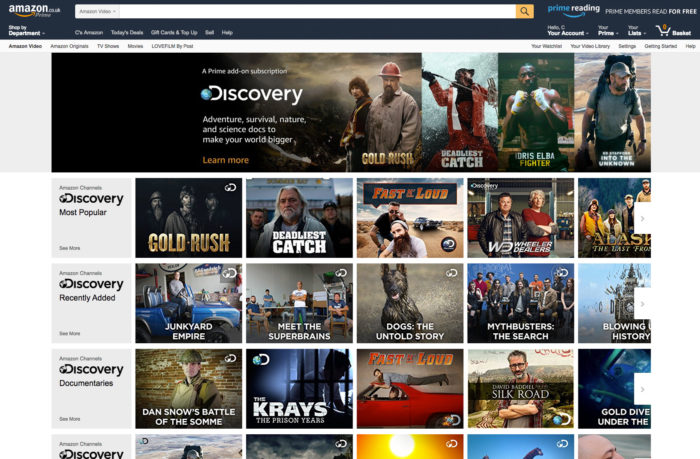 Amazon's new live TV channels will still require a TV Licence