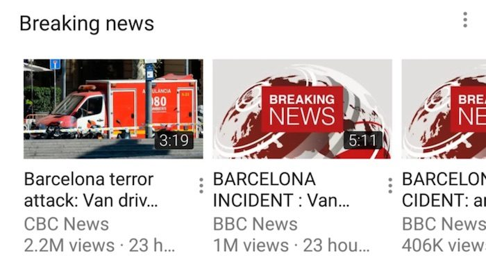 "YouTube launches ""Breaking News"" feed"