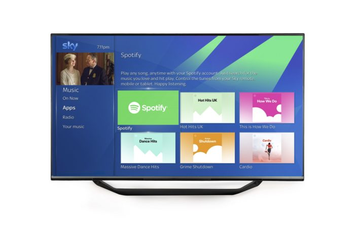 Spotify leads new features arriving on Sky Q