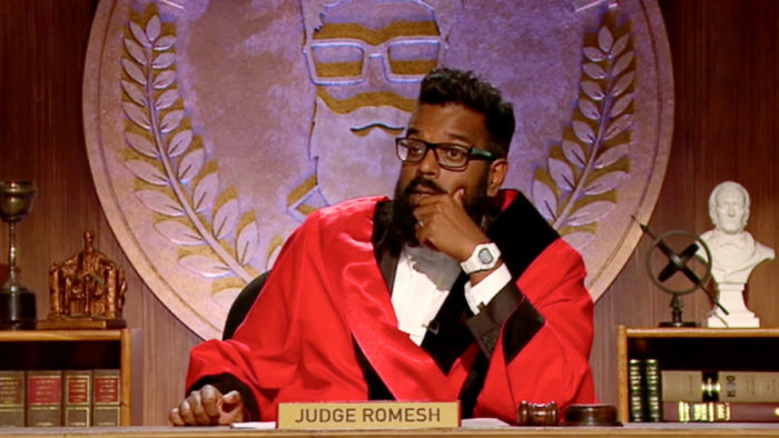 Judge Romesh will return to Dave for Season 2