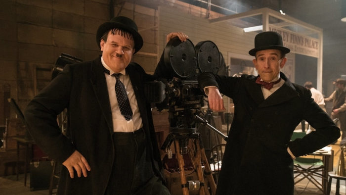 Stan & Ollie take a bow at the top of the UK Film Chart