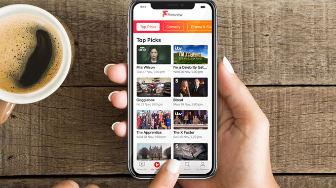 Freeview app now available on iOS