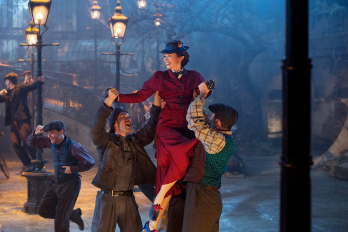Mary Poppins Returns floats to top of UK film chart