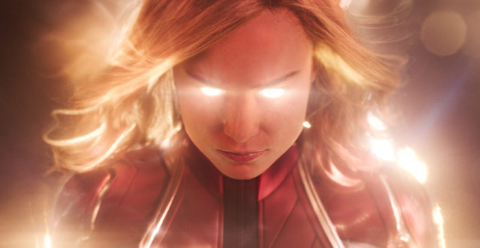 Captain Marvel flies in at Number 1 on the UK Film Chart