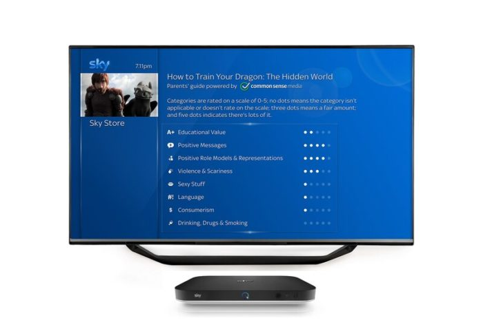 Sky Q launches new Parents' Guide for movies