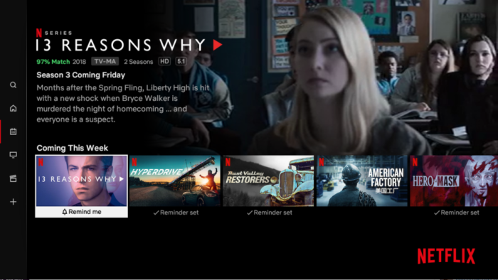Netflix tests new section for Latest releases
