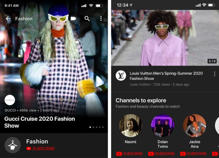 YouTube launches new Fashion hub