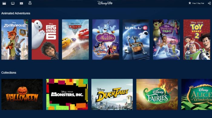 What Disney movies and TV shows are available on DisneyLife in the UK?