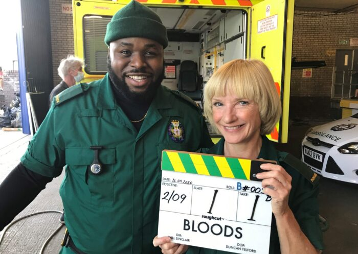 Bloods: Samson Kayo and Jane Horrocks star in Sky comedy